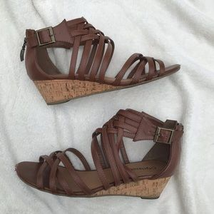 🛍 City Classified Brown Strappy Wedges